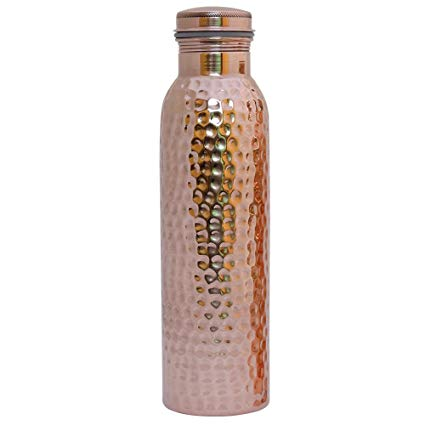 Copper Bottle HK Hammered